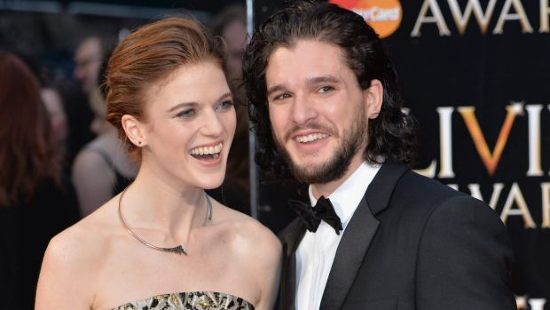 Harington and Rose Leslie, aka Jon Snow and Ygritte, just moved into together.