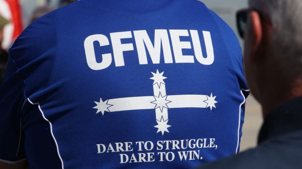"A CFMEU organiser with a history of criminal offences convinced the workplace tribunal he was ""no longer fiery""."