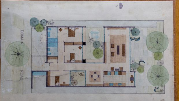 The original plan for the house.