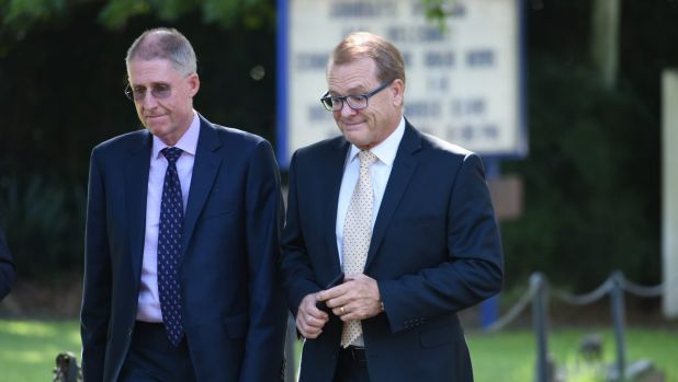 Dr Ian Lambert, (right) principal of Scots College.