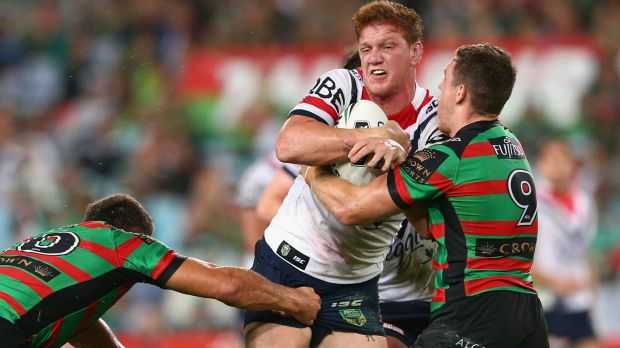 Star of the show: Dylan Napa of the Roosters in action on Friday night.