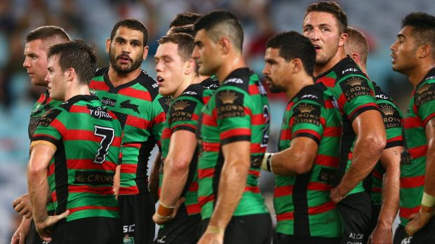 White line failure: The Rabbitohs were poor at the business end of the field.