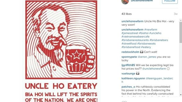An instagram post from Uncle Ho in Fortitude Valley