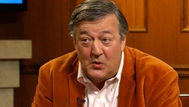 "Stephen Fry has caused a social media furore after he said in a US interview that victims of rape should ""grow up"" and ..."