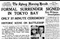 Front Page of The Sydney Morning Herald from September 03 1945