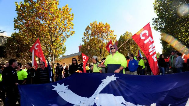 The Eureka flag has been banned from display on Commonwealth-funded building projects