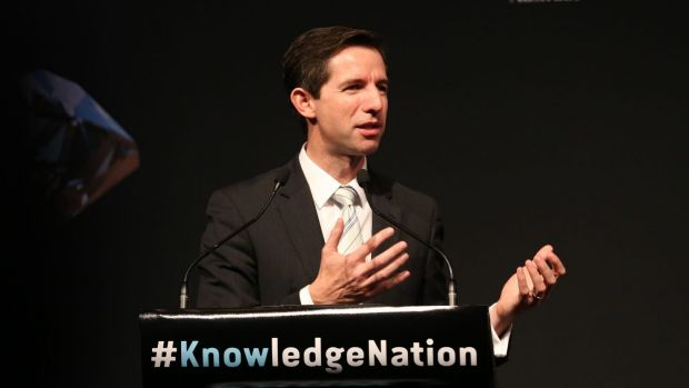 """""""One of the great policy failures"""": Federal Education Minister Simon Birmingham."""