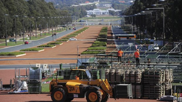 Preparations for 2016's Anzac Day are well underway in Canberra. Grandstands are being erected on the parade ground in ...