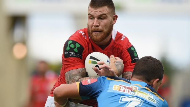 Good day at the office: Josh Dugan.