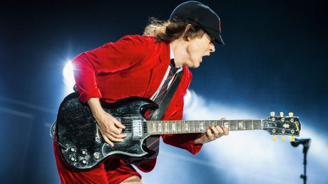 Angus Young of AC/DC.