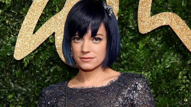 Vocal supporter of social rights: Lily Allen.