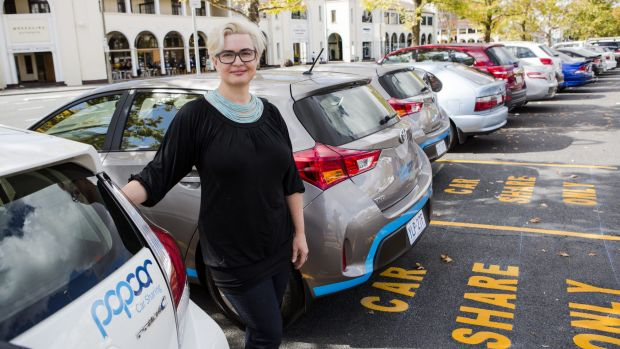 Peta Swarbrick uses car sharing when traveling in Melbourne. She is looking forward to it beginning in Canberra.