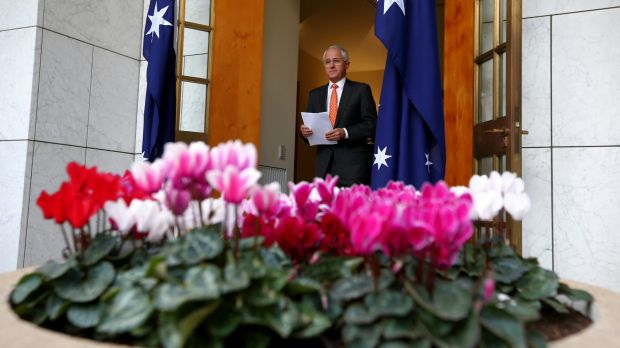 Prime Minister Malcolm Turnbull at Parliament House in Canberra on Monday.
