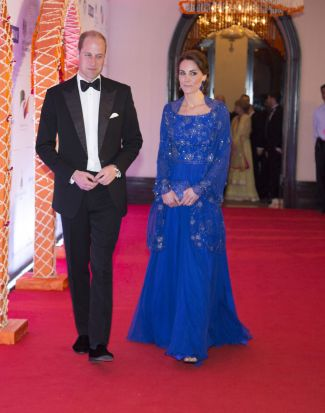 Catherine, Duchess of Cambridge and Prince William, Duke of Cambridge arrive for a Bollywood Inspired Charity Gala at ...