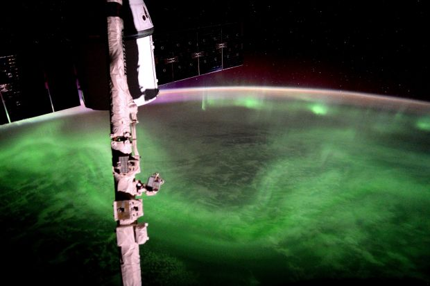 Image supplied by the European Space Agency (ESA), shows the Aurora Australis, southern lights, in an image taken by ESA ...