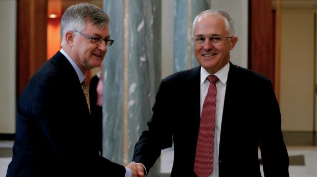 Department of Prime Minister and Cabinet secretary Dr Martin Parkinson, left, announced the review