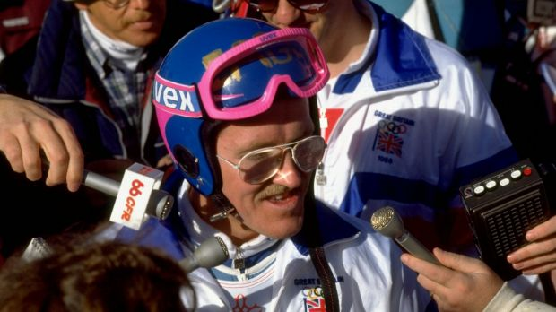 Loveable: Eddie the Eagle won fans all over the world for his courage.
