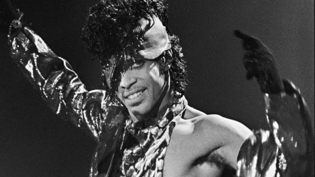 Prince on tour in 1984.