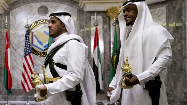 Tea is delivered to the Gulf Cooperation Council Summit in Riyadh.