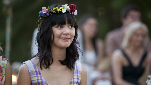 The writer of this piece, Charlotte Nicdao, acting in the TV series 'Camp'.
