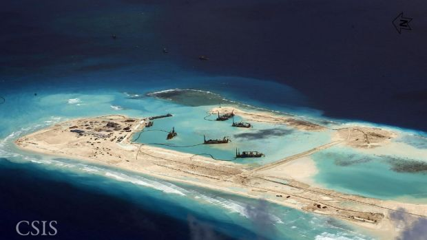 The Spratly Islands in the South China Sea.