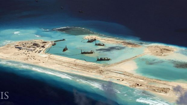 China has built up its presence in the disputed Spratly islands, raising questions over freedom of navigation.