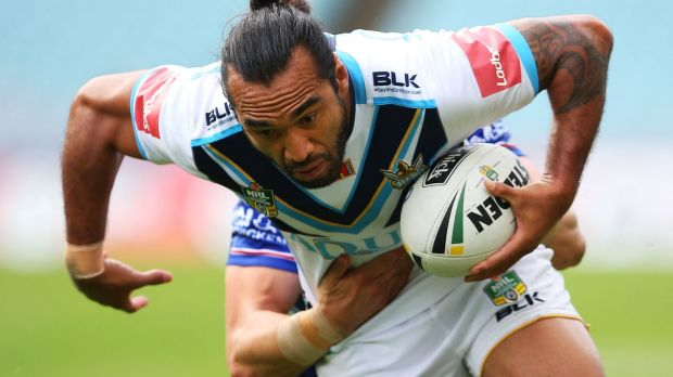 On the run: Zeb Taia of the Titans.