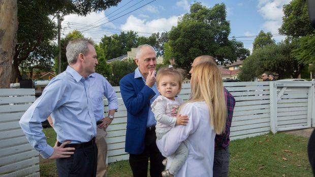 Mr Turnbull used the tax deduction one-year-old Addison Mignacca, of Penshurst, was getting to help her buy a home to ...