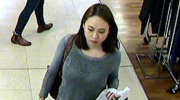 Michelle Leng seen in CCTV footage in Pitt Street earlier on the day in April 2016 that she was detained by her uncle, ...