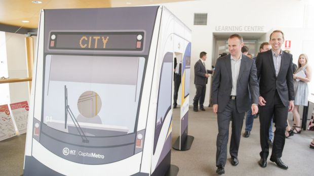 ACT Chief Minister Andrew Barr and Minister for Capital Metro Simon Corbell officially launch the consultation on the  ...