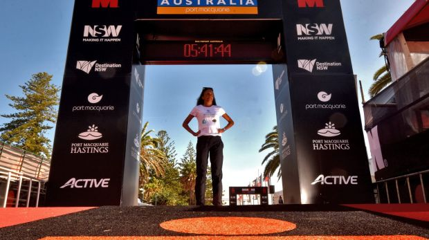 Turia Pitt is competing in her first ironman triathlon since suffering horrific burns in 2011.