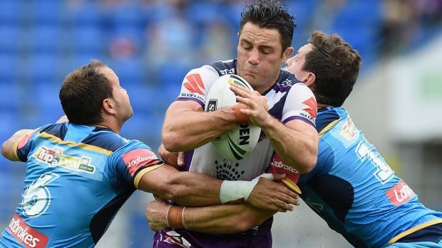 Cooper Cronk crashes through for the Storm.