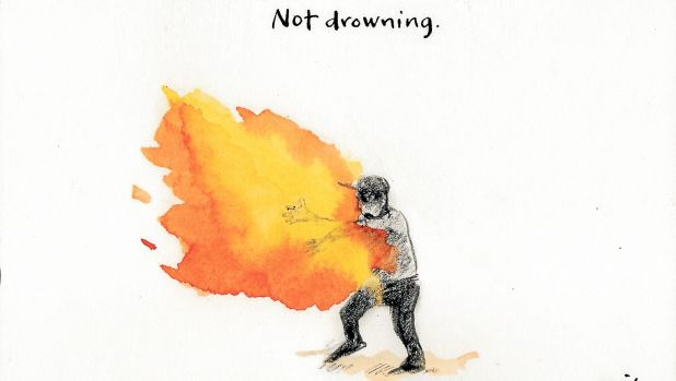 "The government's empty ""saving lives"" rhetoric skewered. Illustration by Cathy Wilcox."