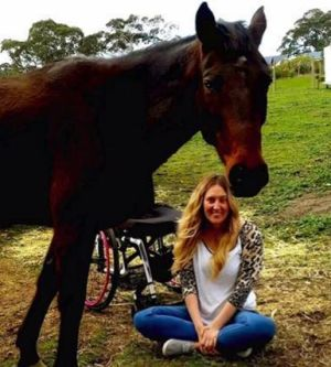 Rhiannon has taken up horse-riding since her accident.