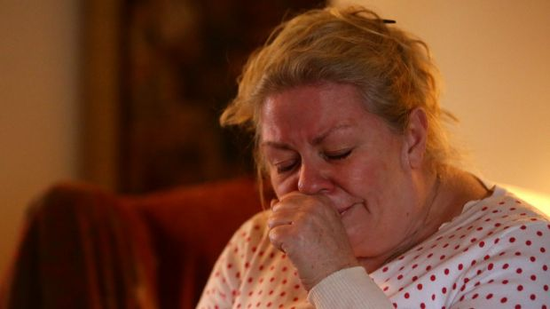 A grieving Jane Robinson, whose husband Max-Augustine Eggert was tragically killed by a bull on their property in Putty.