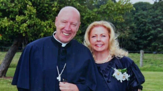 Father Max-Augustine Eggert and his wife Jane Robinson.