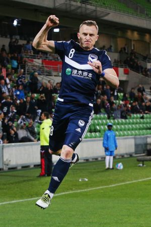 Berisha scored for Victory from the spot in the 13th minute.