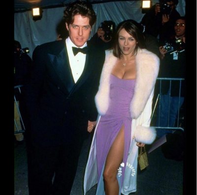Liz Hurley shared this vintage snap of her and then partner Hugh Grant attending the 1997 Met Gala to her Instagram account.