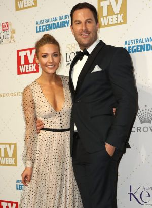 The Bachelorette star Sam Frost with her now ex-boyfriend Sasha Mielczarek.