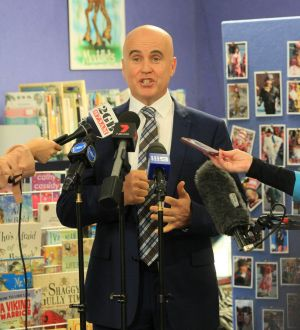 NSW Education Minister Adrian Piccoli at Brookvale Public School