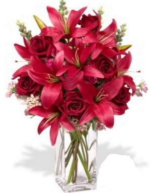 "The discounted $140 ""Admirer"" rose and lily bouquet that was never delivered."