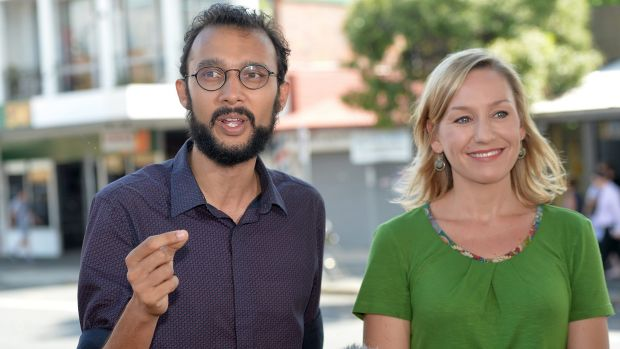 The Gabba's Greens councillor Jonathan Sri (pictured with Senator Larissa Waters) has defended living in an illegal ...