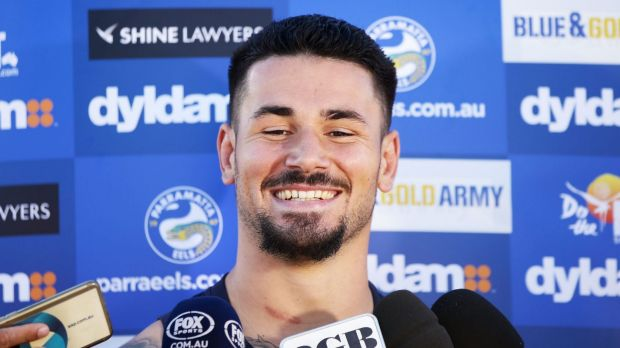 Nathan Peats speaks to the media in Sydney on Wednesday.