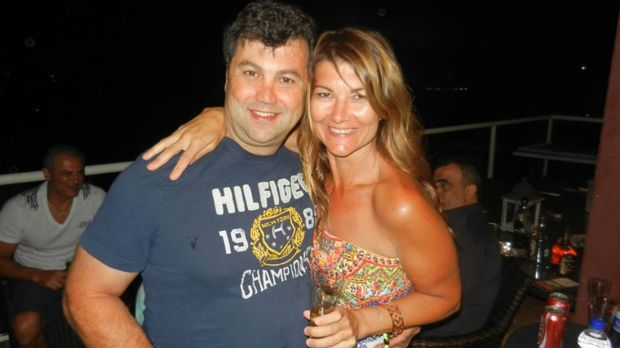 Sydney businessman and pest control company owner Ted Lakis, with his wife Cassi.