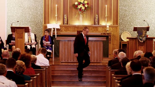 Opposition Leader Bill Shorten at the ecumenical service at the Wesley Uniting Church in Canberra to commemorate the ...