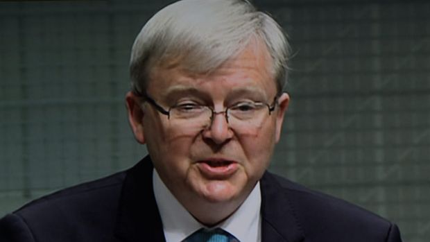 """Kevin Rudd says the Prime Minister is pandering to a """"Hansonite insurgency""""."""