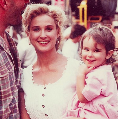 Rumer Willis shared this throwback snap with mother Demi Moore for Mother's Day.