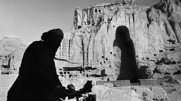 The Bamiyan Buddhas in Afghanistan, once the world's largest standing Buddhas, were destroyed by the Taliban.