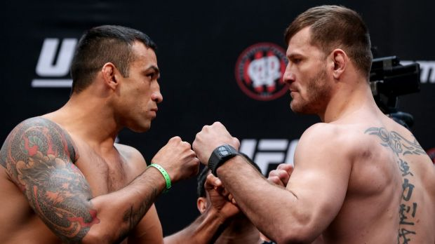 Werdum and Miocic pre-bout.