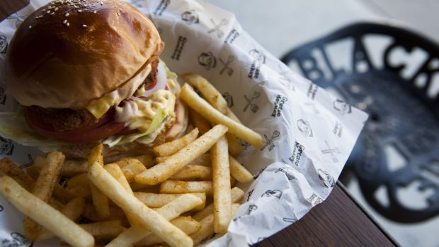 Grease Monkey's Dirty Bird Burger–- on Tuesdays if you buy one, you get a drink free.